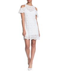 Plenty By Tracy Reese Kendra Cold Shoulder Lace Dress Ivory