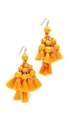 Kate Spade New York Pretty Poms Tassel Statement Earrings Yellow
