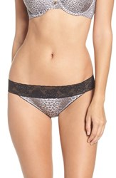 Betsey Johnson Women's Forever Perfect Hipster Panty Grey Leopard
