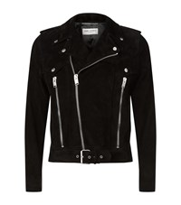 Saint Laurent Suede Western Jacket Male Black