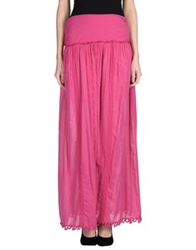 Patrizia Pepe Long Skirts Fuchsia