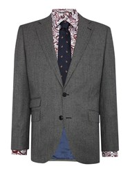 New And Lingwood Hollow Sb2 Dogtooth Suit Jacket Grey