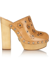 Michael Kors Prim Appliqued Leather Clogs