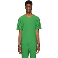 Homme Plisse Issey Miyake Green Pleated T Shirt