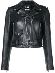 Re Done Leather Moto Jacket Black