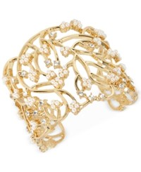 Inc International Concepts M. Haskell For Imitation Pearl Cluster Openwork Cuff Bracelet Only At Macy's Gold