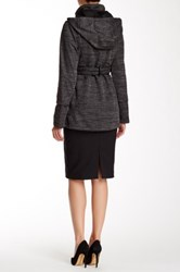 Steve Madden Faux Leather Trim Knit Jacket