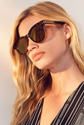 Urban Outfitters Surfside Round Sunglasses Brown
