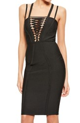 Missguided Women's Lace Up Bodice Body Con Dress
