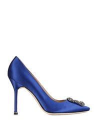 Manolo Blahnik 105Mm Hangisi Silk Satin Pumps