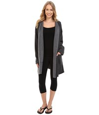 Hard Tail Slouchy Wrap Hoodie Jacket Black Women's Sweatshirt