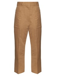 Marni High Waisted Cropped Twill Trousers