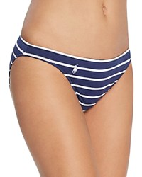 Ralph Lauren Polo French Stripe Hipster Bikini Bottom Navy