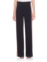 Msgm Tuxedo Stripe Wide Leg Pants Black Beige