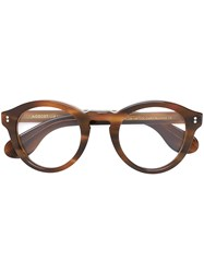 Moscot 'Keppe' Glasses Brown