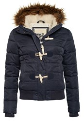 Superdry Marl Toggle Puffer Jacket Navy