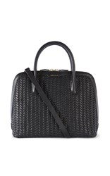 Karen Millen Woven Leather Bag Black