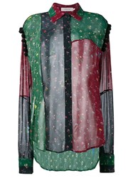 Preen By Thornton Bregazzi Sheer Patchwork Shirt Multicolour
