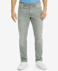 Kenneth Cole Reaction Men's Slim Fit Gray Wash Jeans Grey