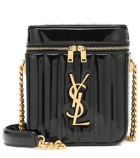 Saint Laurent Vicky Vanity Leather Shoulder Bag Black