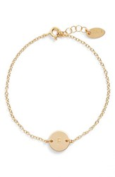 Women's Nashelle Initial Mini Disc Bracelet 14K Gold Fill F