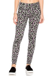 Sundry Leopard Yoga Pants Gray
