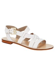Phase Eight Lucie Leather Sandals Winter White