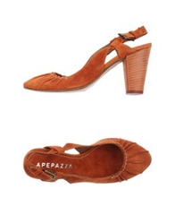 Apepazza Pumps Brick Red