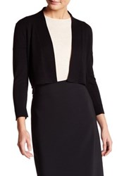 Modern American Designer 3 4 Length Sleeve Knit Shrug Black