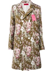 The Gigi Floral Double Breasted Coat Cotton Polyester Viscose Virgin Wool