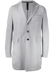 Harris Wharf London Single Breasted Coat Grey