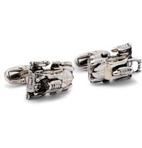 Paul Smith Space Car Silver Tone And Gold Tone Cufflinks Silver