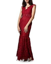 Phase Eight Sauvan Lace Gown Scarlet