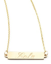 Personalized Gold Bar Pendant Necklace 18' Zoe Chicco