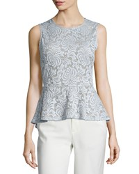 Bcbgmaxazria Keren Sleeveless Lace Peplum Top Haze Women's