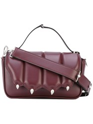 Marco De Vincenzo Top Handle Tote Women Calf Leather Metal One Size Red