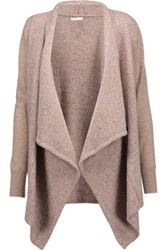 Joie Starley Marled Knitted Cardigan Beige