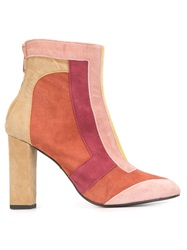 Just Cavalli Colour Block Boots Pink And Purple