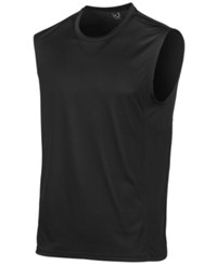 1d7540c2ab72f Ideology Id Men s Mesh Trimmed Sleeveless T Shirt Created For Macy s Deep  Black