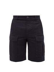 Balenciaga Mid Rise Cotton Blend Cargo Shorts Navy