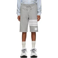 Thom Browne Grey Classic 4 Bar Sweat Shorts