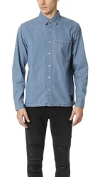 Cheap Monday Squared Denim Shirt Strict Blue