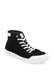 Rag And Bone Standard Issue Canvas High Top Sneakers Black White