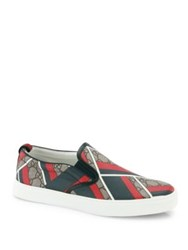 Gucci Dublin Chevron Slip On Sneakers Multi