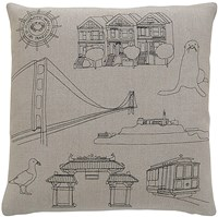 K Studio San Francisco Pillow Small 18 X 18 Gray