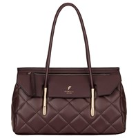 Fiorelli Carlton Flap Over East West Shoulder Bag Aubergine Quilted