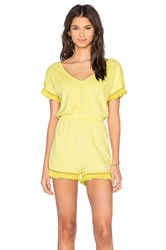 Wildfox Couture Laguna Romper Yellow