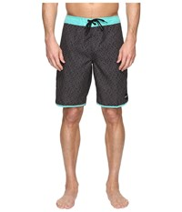 O'neill Santa Cruz Scallop Boardshorts Black Print Men's Swimwear Multi