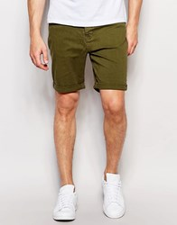 New Look 5 Pocket Chino Shorts In Olive Olive Green