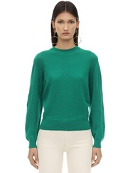 Khaite Viola Cashmere Knit Sweater Green